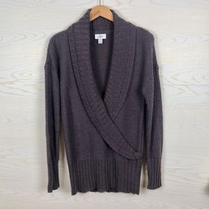 LOFT Lavender Cozy Wrap Chunky Knit Sweater